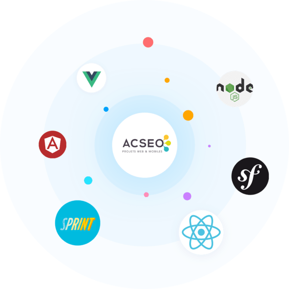 ACSEO - Node - Vue js - Angular - Sprint design - React - Symfony